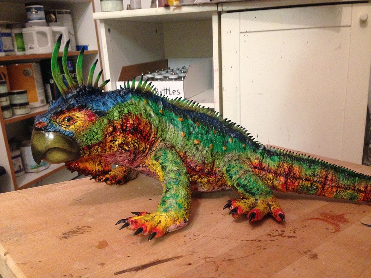 rainbow beaked lizard chris walas creatures