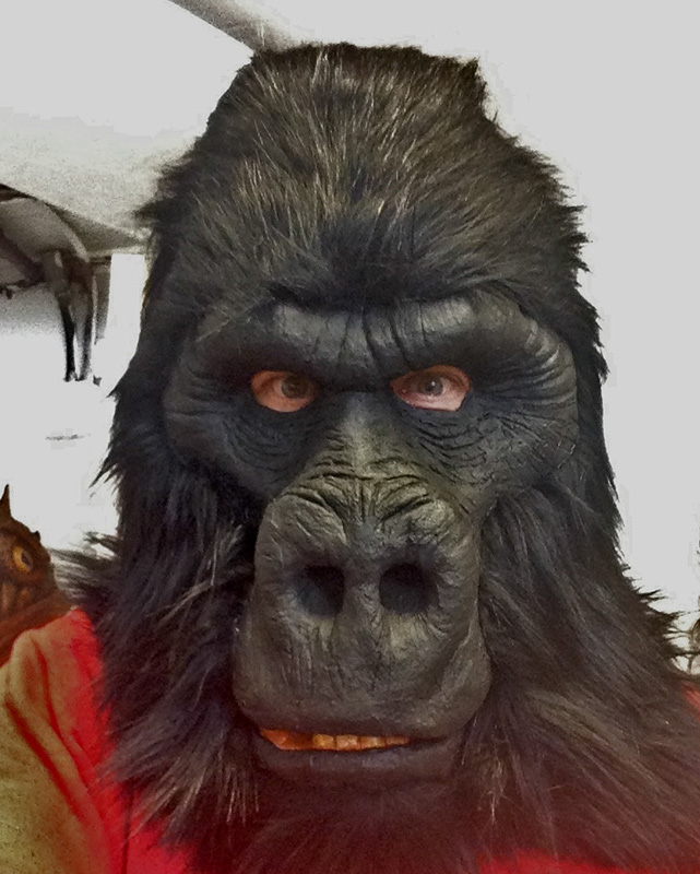 how to make a gorilla mask
