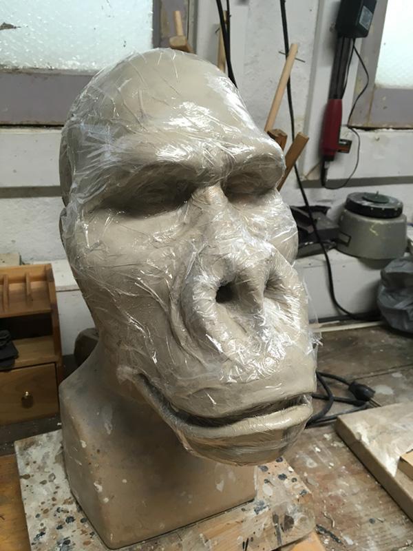 Paper mache moving mouth gorilla mask chris walas creatures